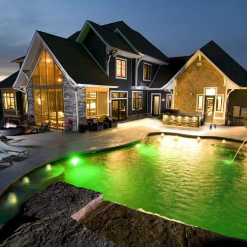 Back Pool Nighttime