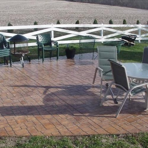 Cobblestone patio